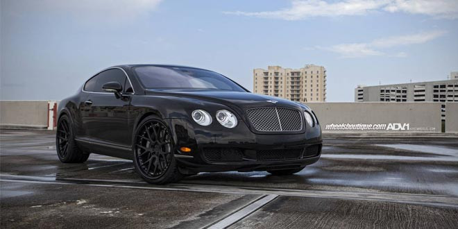 Bentley Continental GT примерил диски ADV.1 Wheels
