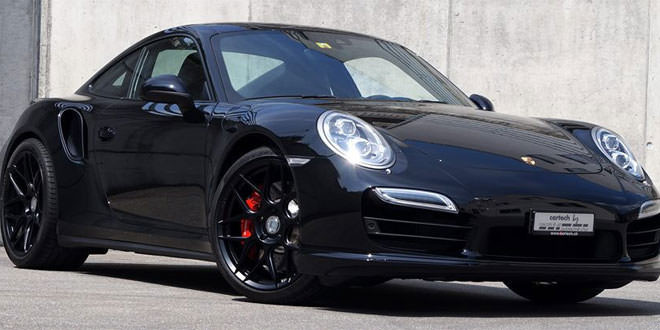 Ателье Cartech подготовило Porsche 991 Turbo Black Edition