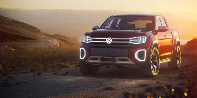 Новый VW Atlas Tanoak Pickup Concept показали в Нью-Йорке