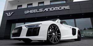 Фото | Белый Audi R8 Spyder. Тюнинг от Wheelsandmore